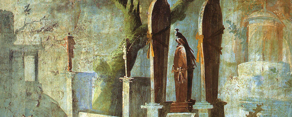 Fresco from the Temple of Isis, Pompei, 1st Century A.D.