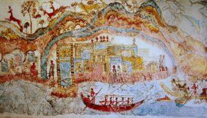 Minoan Fresco from Akrotiri, circa 1650-1550 B.C.