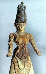 "Minoan ""Snake Goddess"" figurine, circa 1600 B.C."